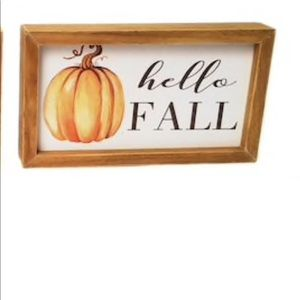 HELLO FALL 🎃 Wooden Tabletop Sign